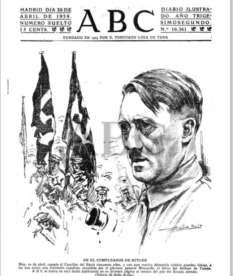 ABC felicita a Hitler